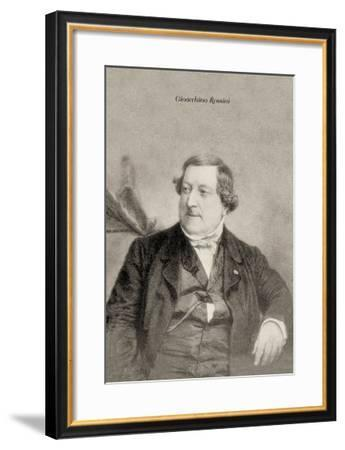 Gioacchino Rossini--Framed Art Print
