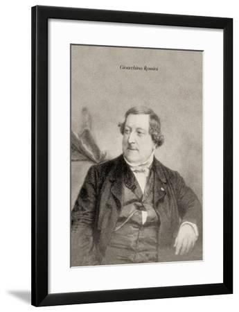 Gioacchino Rossini--Framed Art Print