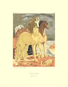 Horses on the Shore by Giorgio De Chirico