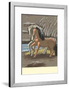 Two Horses by Giorgio De Chirico
