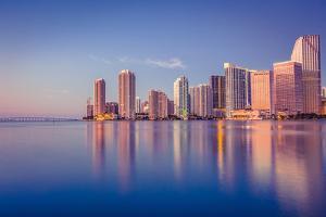 Miami Skyline by Giorgio Fochesato