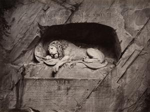 The Lion, Lucerne, Switzerland by Giorgio Sommer