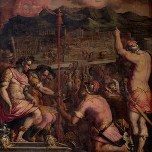 Foundation of Florentia, a Roman Settlement, 1563-1565 by Giorgio Vasari