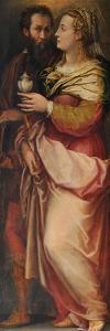 Giorgio Vasari with His Wife Niccolosa Bacci, C. 1565 by Giorgio Vasari