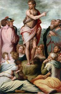Preaching of St. John the Bapist by Giorgio Vasari