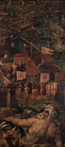 Sea Battle Between Florentines and Pisans, 1563-1565 by Giorgio Vasari