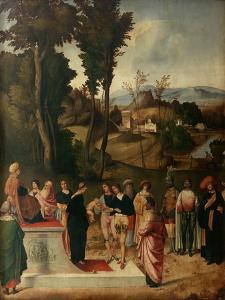 Moess Undergoes Trial by Fire, 1502-1505 by Giorgione