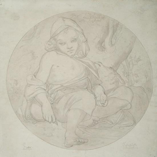 Giotto as a Shepherd Boy, 1849-Frederic Leighton-Giclee Print