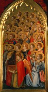 Angels from the Coronation of the Virgin Polyptych by Giotto di Bondone