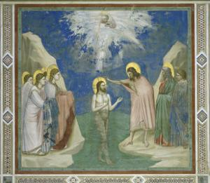 Baptism of Christ by Giotto di Bondone