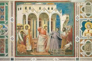 Christ Driving the Money changers from the Temple by Giotto di Bondone