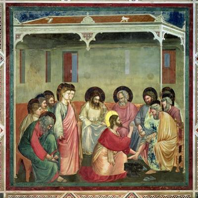 Christ Washing the Disciples' Feet, c.1305 (Post Restoration)