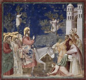 Entrance into Jerusalem by Giotto di Bondone