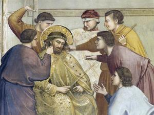 Flagellation of Christ, Detail from Life and Passion of Christ, 1303-1305 by Giotto di Bondone