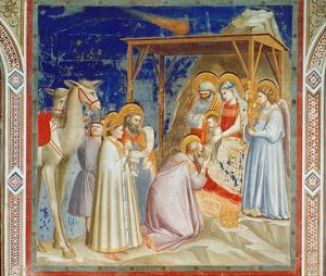 Giotto: Adoration by Giotto di Bondone