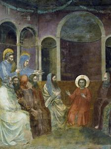 Jesus in Temple Among Doctors, Detail from Life and Passion of Christ by Giotto di Bondone