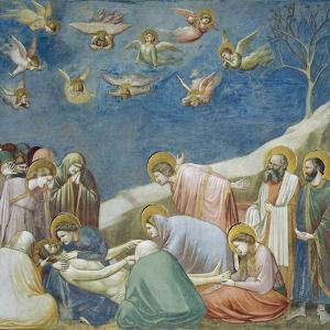 Lamentation over Dead Christ, Detail from Life and Passion of Christ, 1303-1305 by Giotto di Bondone