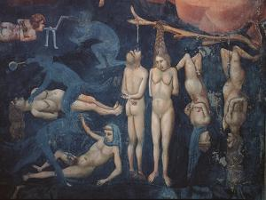 Last Judgment, Detail, Torment by Giotto di Bondone