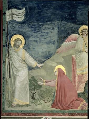 Noli Me Tangere, Detail of Christ and Mary Magdalene, c.1305