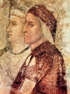 Paradise, Detail of Dante Alighieri (1265-1321) c.1336 by Giotto di Bondone