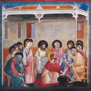 Passion, Washing of the Feet by Giotto di Bondone