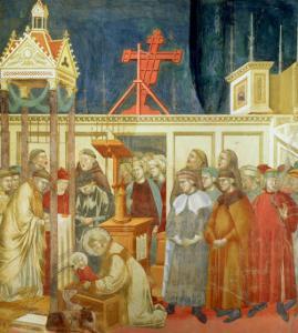 St. Francis of Assisi Preparing the Christmas Crib at Grecchio, 1296-97 by Giotto di Bondone