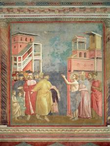St. Francis Renounces His Father's Goods and Earthly Wealth, 1297-99 by Giotto di Bondone