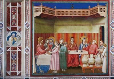 Stories of Christ the Wedding at Cana Or the Marriage Feast at Cana by Giotto di Bondone