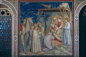 Stories of the Christ the Adoration of the Magi by Giotto di Bondone