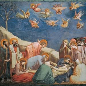 Stories of the Passion the Mourning Over the Dead Christ by Giotto di Bondone