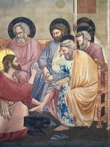 Stories of the Passion the Washing of the Feet by Giotto di Bondone