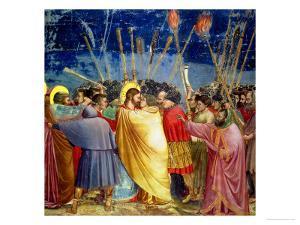 The Betrayal of Christ, circa 1305 by Giotto di Bondone