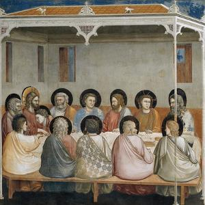 The Last Supper, Detail from Life and Passion of Christ, 1303-1305 by Giotto di Bondone