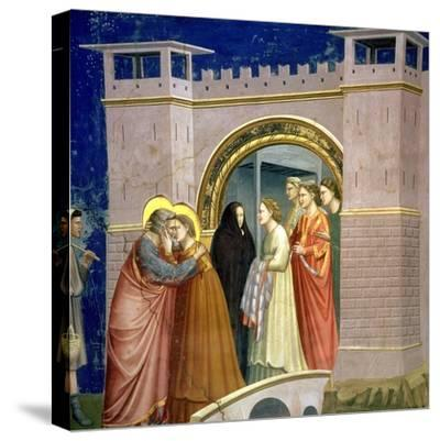 The Meeting at the Golden Gate, circa 1305 Gate in Jerusalem, circa 1305