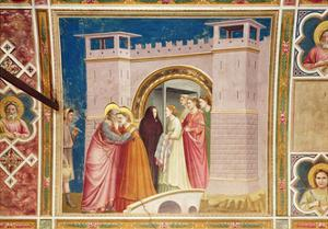The Meeting of Joachim and Anne at the Golden Gate, C.1305 by Giotto di Bondone