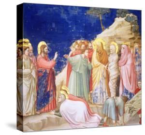 The Raising of Lazarus, circa 1305 (Pre-Restoration) by Giotto di Bondone
