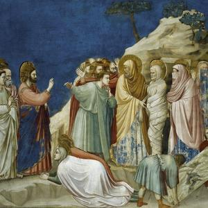 The Resurrection of Lazarus, Detail from Life and Passion of Christ, 1303-1305 by Giotto di Bondone
