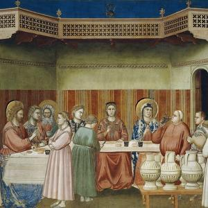 The Wedding of Cana, Detail from Life and Passion of Christ, 1303-1305 by Giotto di Bondone