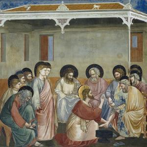 Washing of Feet, Detail from Life and Passion of Christ by Giotto di Bondone