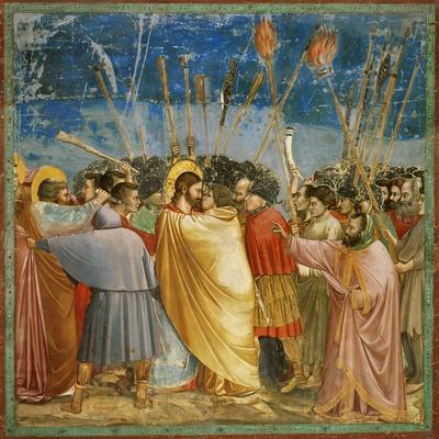Giotto / Kiss of Judas, 1303-1305, Fresco
