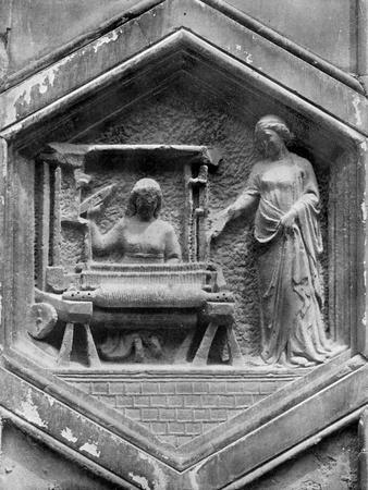 The Art of Weaving, Relief on the Duomo, Florence, Italy, Mid 14th Century