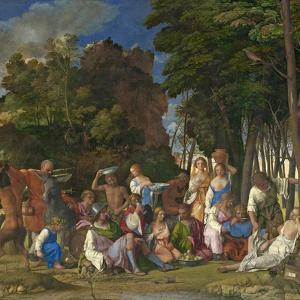 The Feast of the Gods, 1514- 29 by Giov. /Titian Bellini