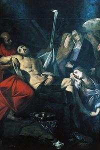Deposition of Christ in Sepulchre, 1610 by Giovan Battista Crespi