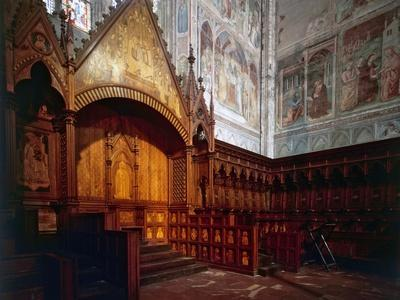Wooden Choir, Presbytery, Cathedral of Orvieto, Italy