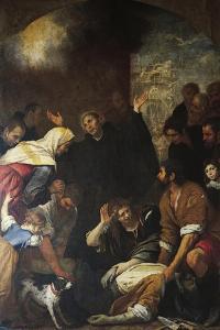 St Ignatius Resurrecting Mason by Giovanni Andrea De Ferrari