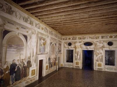 Glimpse of Central Hall with Frescoes