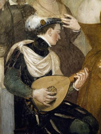 Lute Player, Detail from Invitation to Dance, Ca 1570