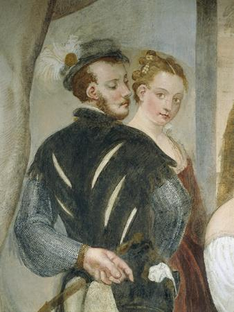 Pair of Young People, Detail from Game of Cards