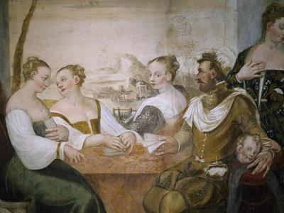 Players at Table, Detail from Game of Cards