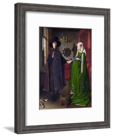 Giovanni Arnolfini and His Bride (The Arnolfini Marriage) by Jan Van Eyck--Framed Giclee Print